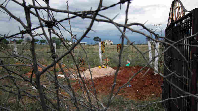 The grave of the 27-year-old Indian woman who died on Monday from head and spinal injuries.