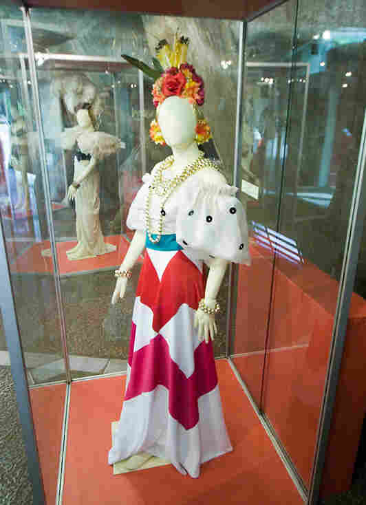 One of Miranda's costumes, photographed in the now-closed Carmen Miranda Museum in Rio.