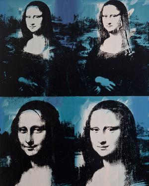 Andy Warhol's Mona Lisa Four Times, 1978.