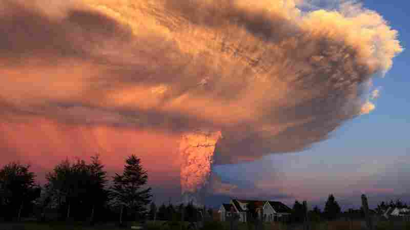 Chile's Calbuco volcano is seen from the town of Puerto Montt on Wednesday, as it spews a high column of ash and lava.