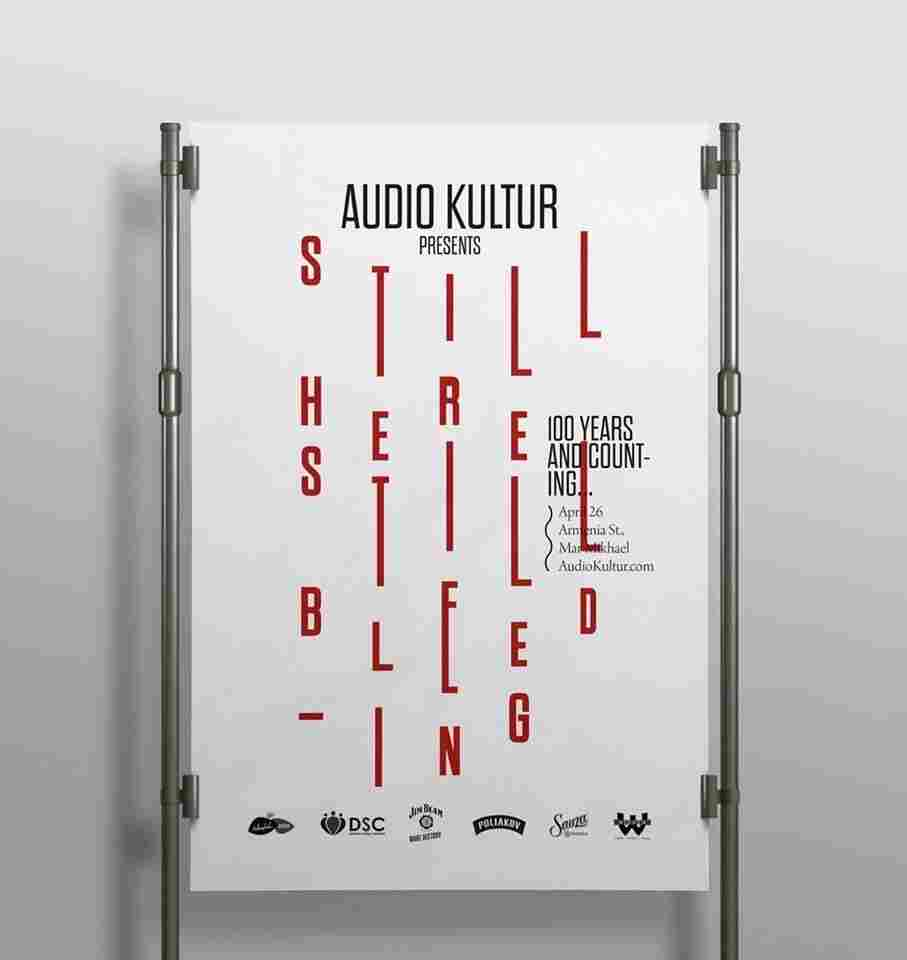 The magazine Audio Kultur printed this poster, which commemorates the 100th anniversary of the massacre of 1.5 million Armenians, using blood.