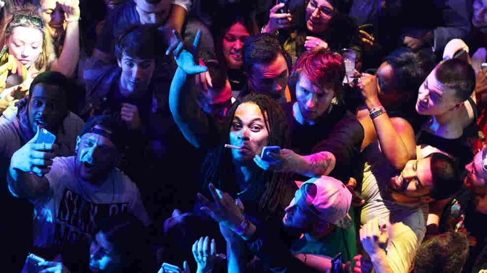 Waka Flocka Fame amid the crowd at Webster Hall in New York City on April 20.