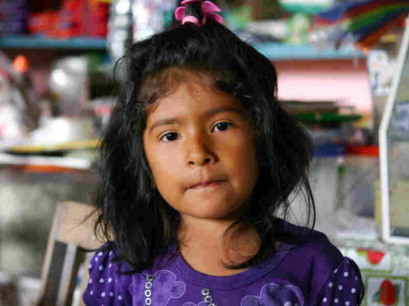 """""""I don't like vaccinations,"""" says 4-year-old Luz Milagros Leon. Nonetheless, she and her family participated in the Duke health study."""