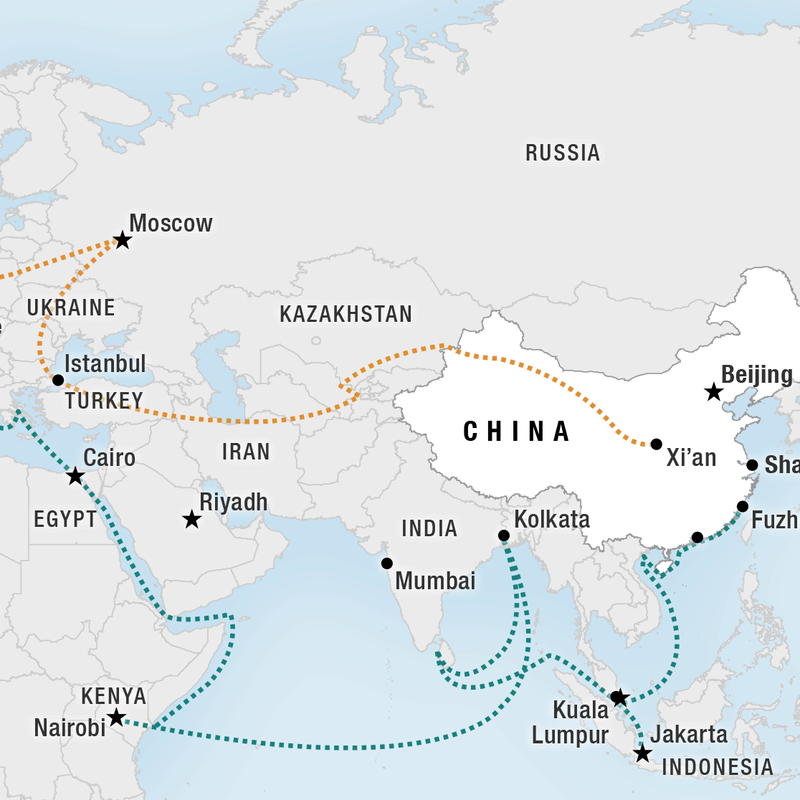 For China's 'New Silk Road,' Ambitious Goals And More Than A