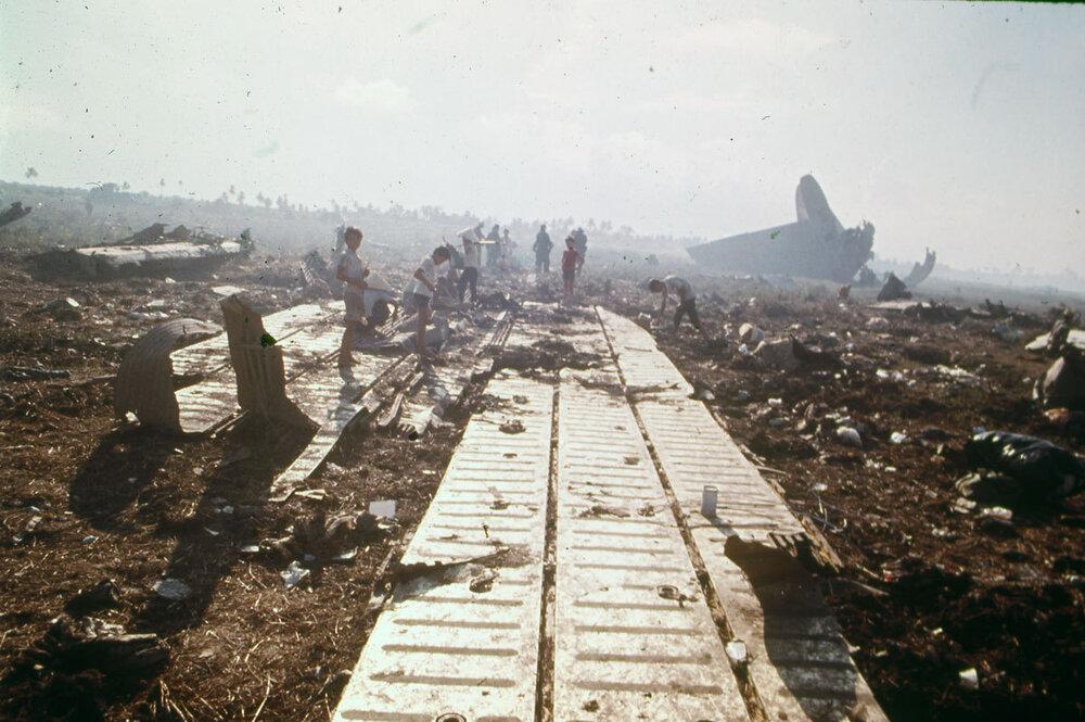 Operation Babylift plane wreckage