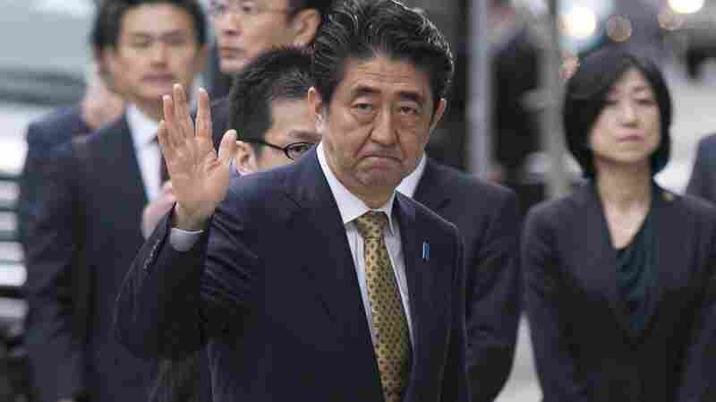 Japanese Prime Minister Shinzo Abe in Boston on Monday.