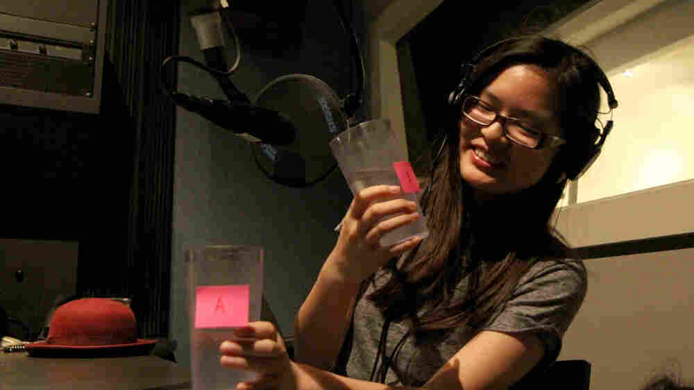 After teens noticed a change in the tap water in Oakland due to the California drought, 17-year-old Amber Lee took a tap vs. bottled water taste test in Youth Radio's studios.