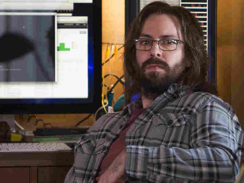 """Martin Starr plays software designer Gilfoyle in the HBO comedy Silicon Valley. In the show's new season, Gilfoyle and his fellow techies attend a startup competition named """"Disrupt."""""""