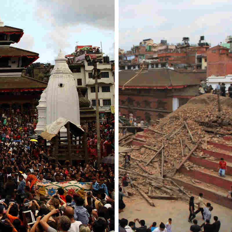 LOOK: Historic Nepal Sites Before And After The Quake