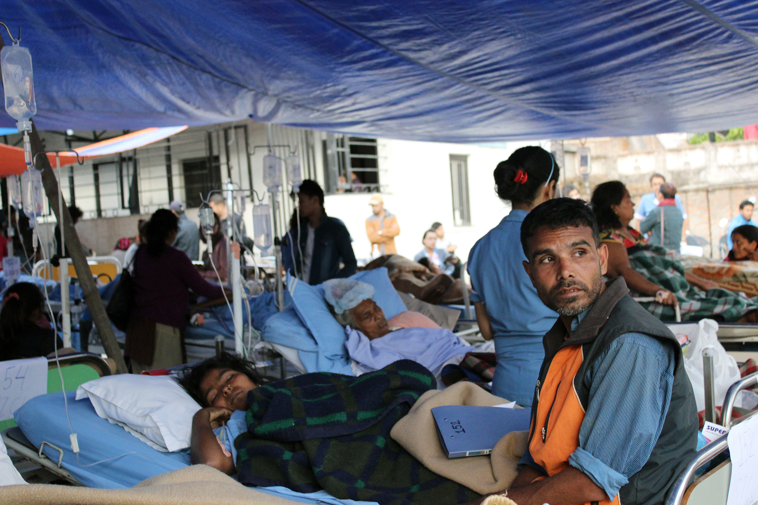 Wounded Nepalis Stream Into Kathmandu, Overwhelming Hospitals
