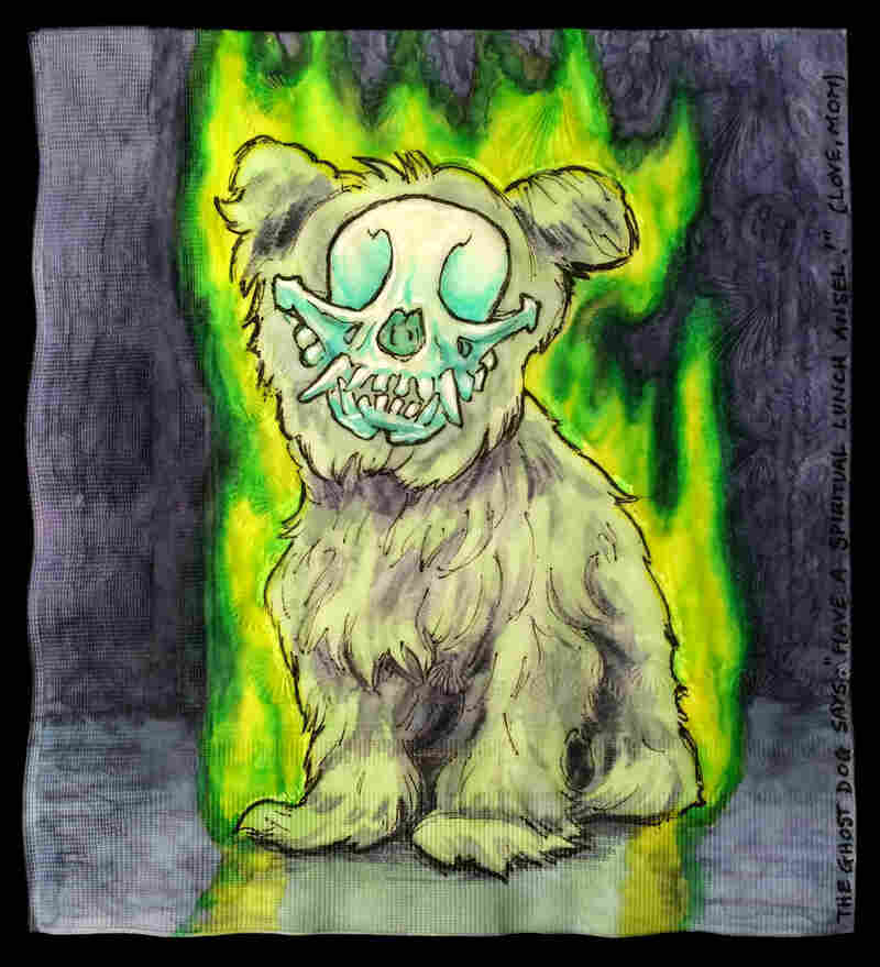 "The Ghost Dog Says: ""Have a spiritual lunch Ansel!"""