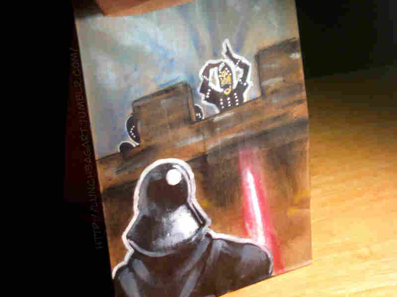 One of Benson's creations, featuring Darth Vader