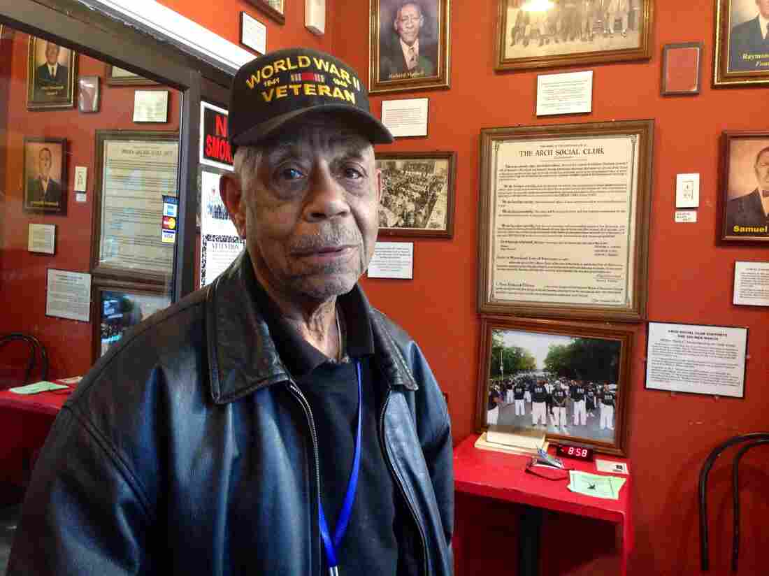 Leonard Washington, 91, is the oldest member of Baltimore's Arch Social Club.