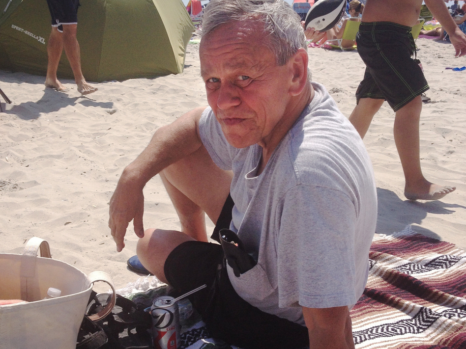 Bob Skierski at the beach in Avalon, N.J., just hours before he fell ill and went to the hospital. He never went home. (Courtesy of Jennifer Rodgers)