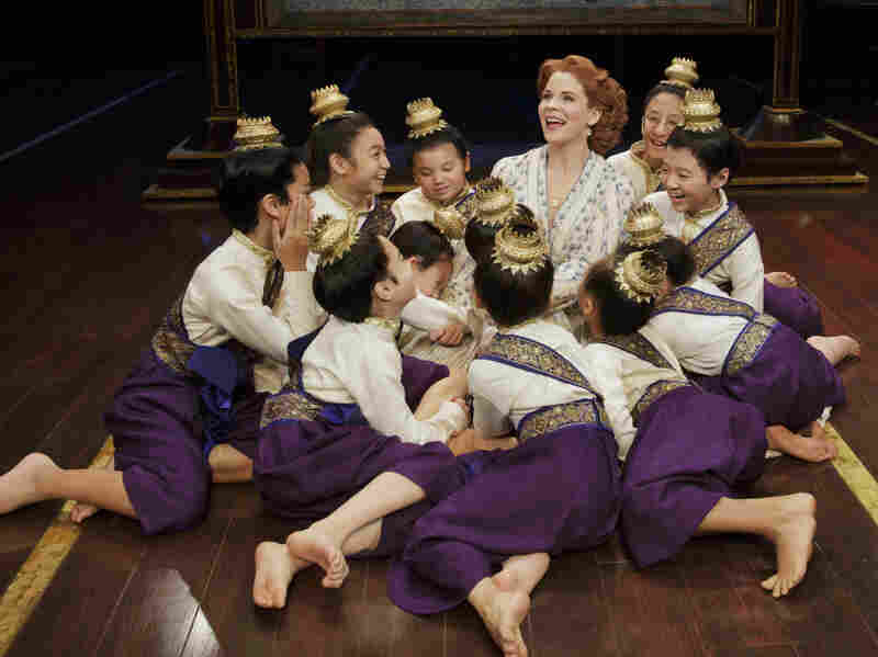 In the play, as in real life, Anna Leonowens (O'Hara) travels to Thailand to teach at the king's court, including his children.