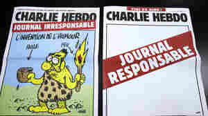 "This pair of Charlie Hebdo covers from 2012 pokes fun at the magazine's ""irresponsible"" approach to humor."