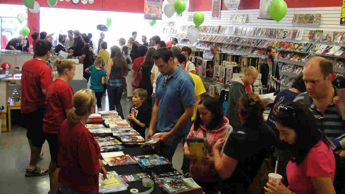 Free Comic Book Day 2010 at the Comic Bug in Manhattan Beach, CA.