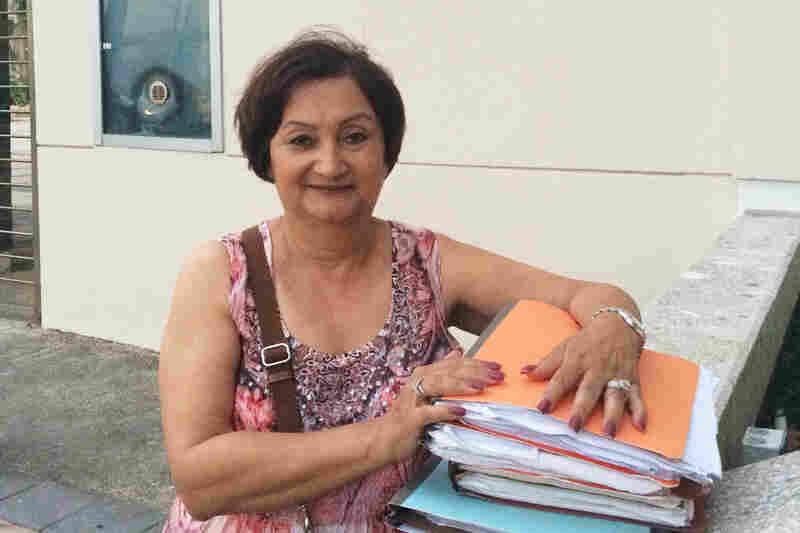 Sonia Vazquez, a residential energy customer in San Juan, is fighting PREPA, the energy utility agency.