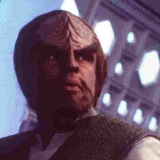 Michael Dorn as Worf, a Klingon, in the 1998 movie, Star Trek: Insurrection.
