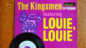 "The ""Louie Louie"" record, shown in 2003 ahead of an eBay auction, was a huge hit in the '60s. The hard-to-decipher lyrics led to some sordid speculation among teen listeners — and some fretting among those teens' parents."