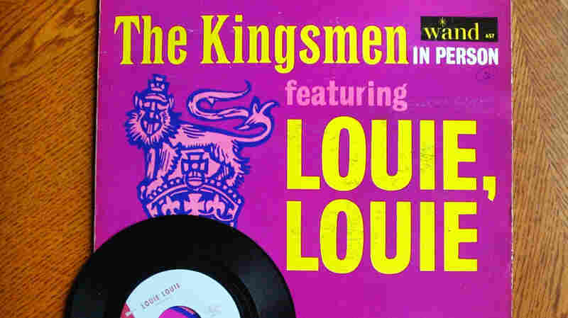 """The """"Louie Louie"""" record, shown in 2003 ahead of an eBay auction, was a huge hit in the '60s. The hard-to-decipher lyrics led to some sordid speculation among teen listeners — and some fretting among those teens' parents."""