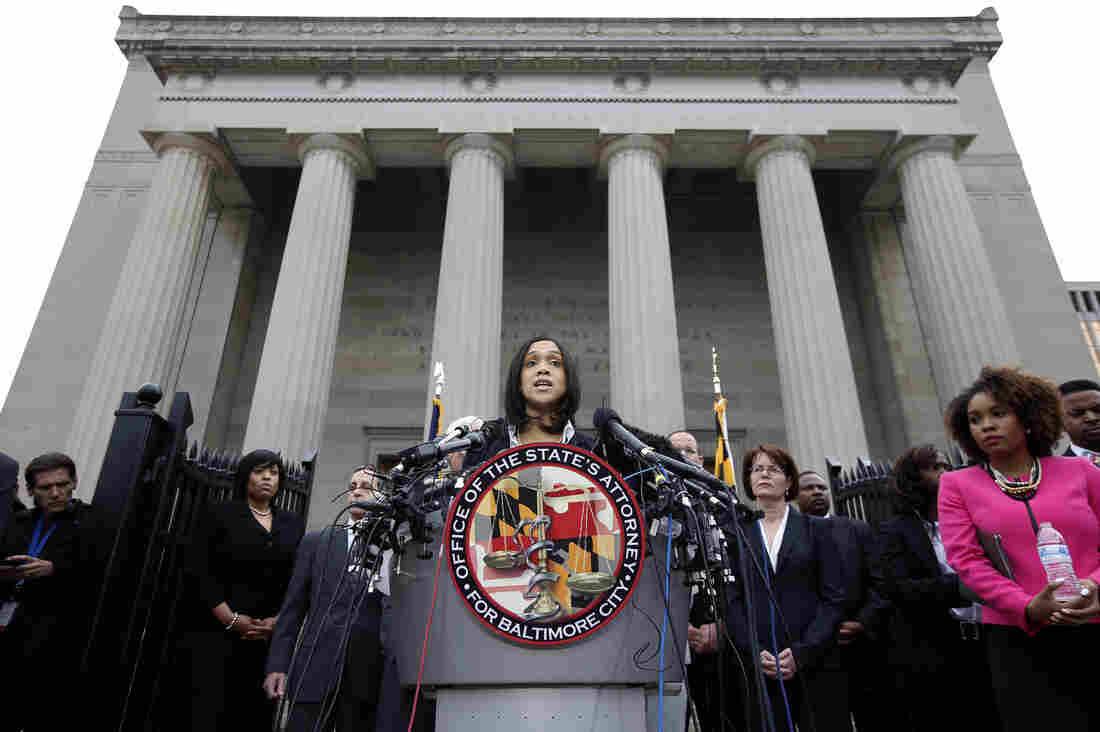 Marilyn Mosby, state's attorney for Baltimore City, announced criminal charges against all six officers in the death of Freddie Gray, who suffered a fatal injury while in police custody.
