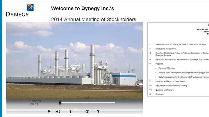 The Annual Shareholders' Meeting Will Now Come To Order
