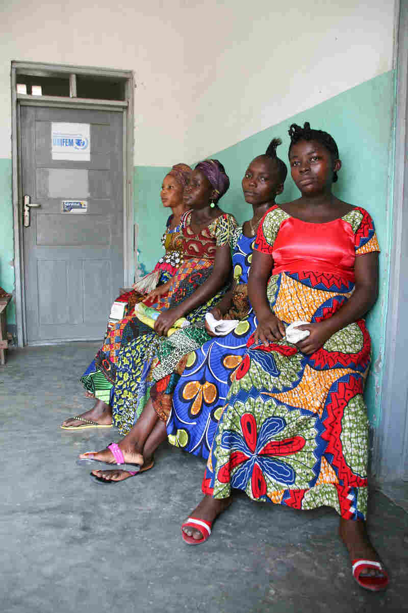 Women wait in a maternal ward in Bumba. Dr. Heidi Larson says women there always dress elegantly even when going to the doctors.