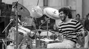 Steve Gadd performs live in 1980.