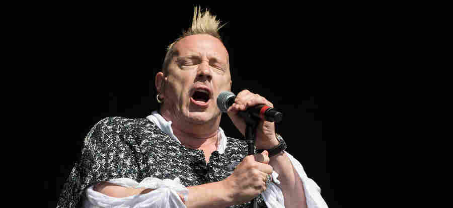 """John """"Johnny Rotten"""" Lydon, seen here with his band Public Image Ltd at the 2013 Glastonbury Festival, is the former frontman of the Sex Pistols."""