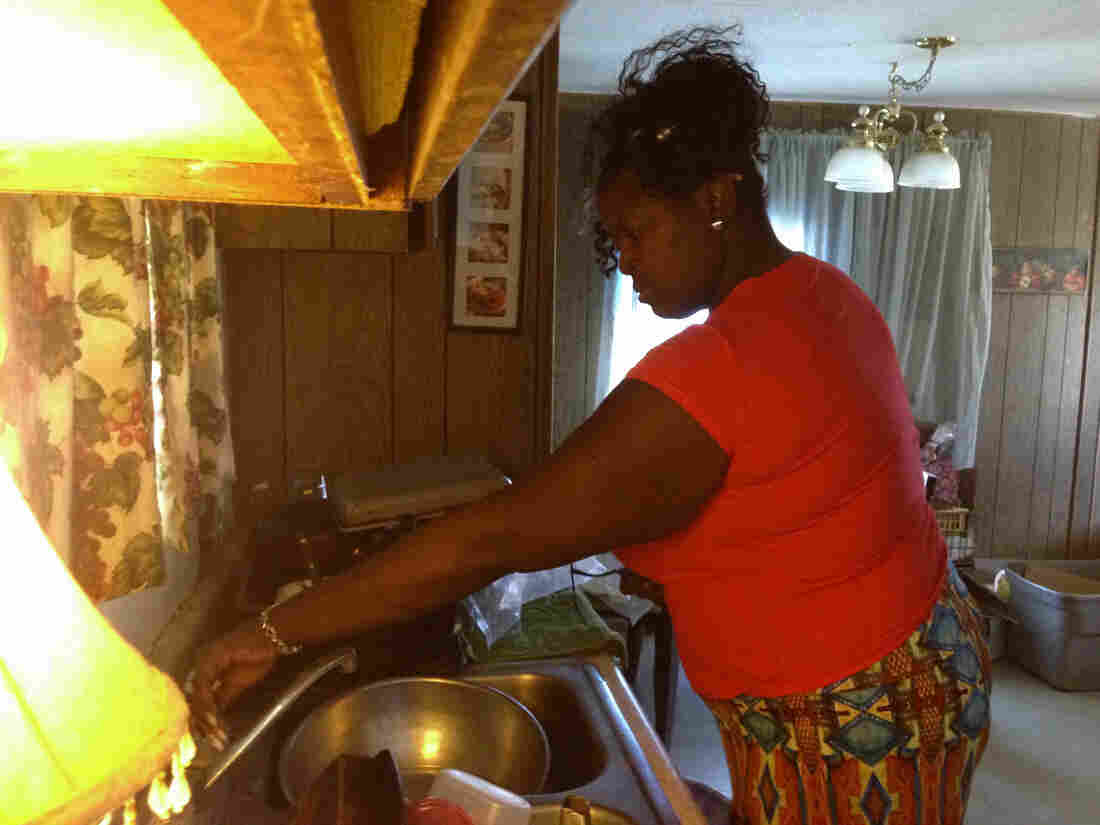 Thelma Williams' Fairmead home has been without running water for seven years. She showers at her parents' home nearby and fills up eight five-gallon jugs to bring home.