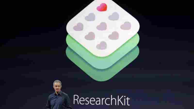 ResearchKit, presented by Apple's Jeff Williams in March, enables app creation to aid medical research.