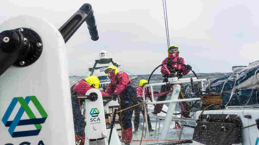 Leg 5 from New Zealand to Itajai, Brazil aboard aboard Team SCA in March.