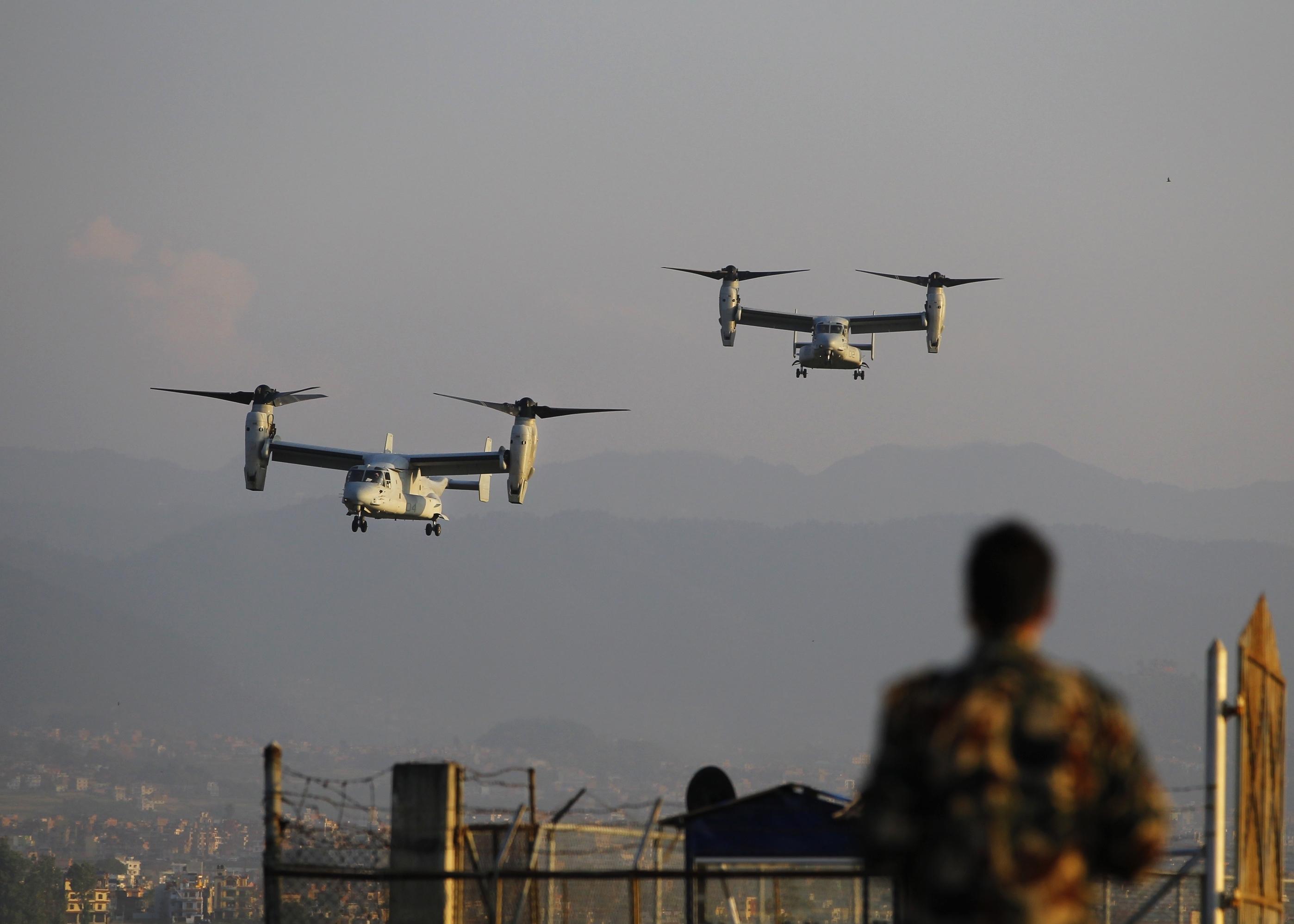 U.S. Marines Arrive In Nepal To Aid Earthquake Victims