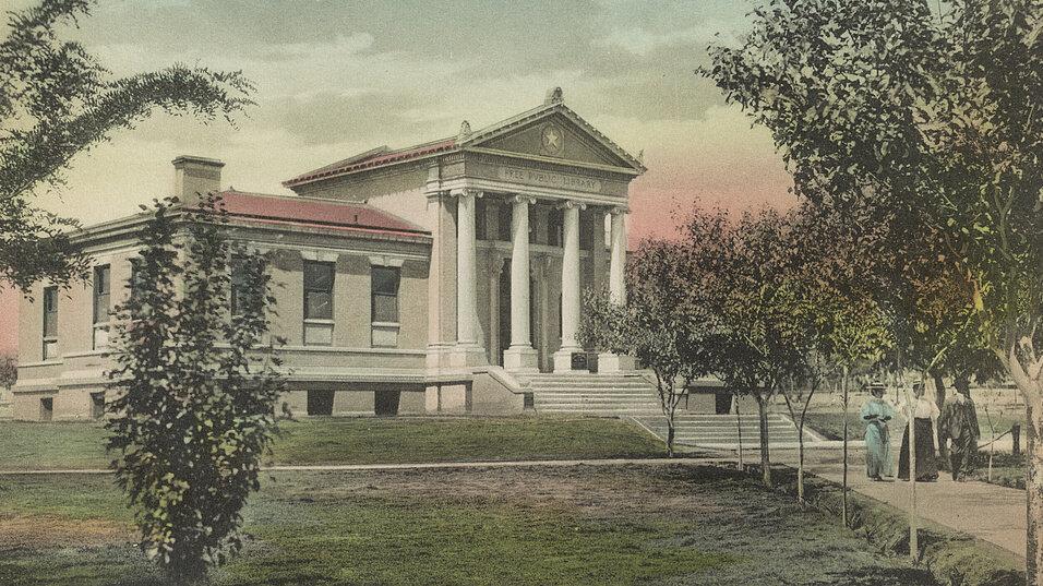 Carnegie Public Library in El Paso, Texas, maybe 1909.