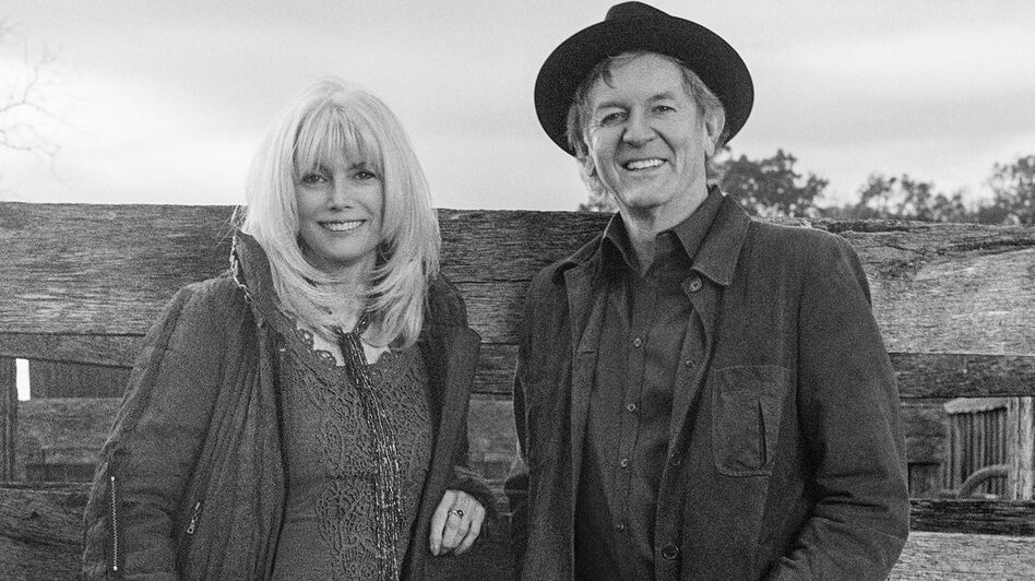Emmylou Harris & Rodney Crowell's new album, <em>The Traveling Kind</em>, comes out May 12.