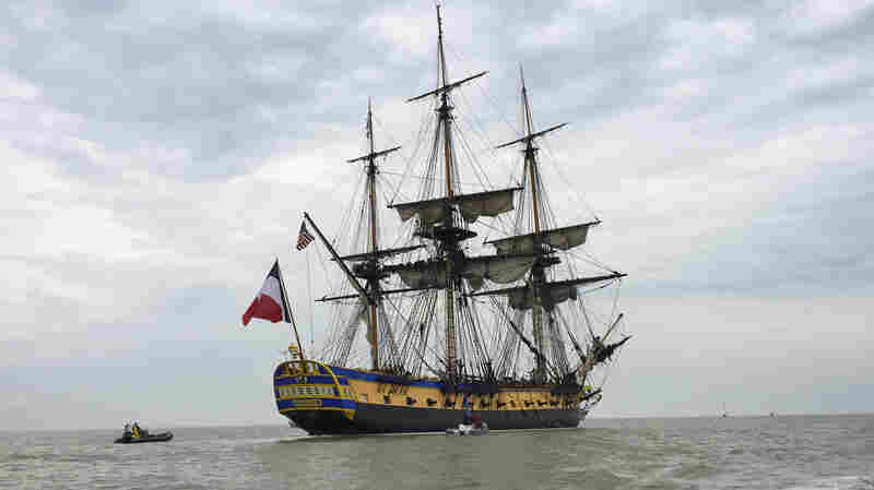 The Marquis de Lafayette sailed across the Atlantic to America aboard the original Hermione in 1780 and joined the American rebels in their struggle for independence from Great Britain. This replica will retrace his voyage; it's scheduled to arrive in Yorktown, Va., on June 5.