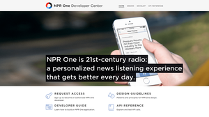 The NPR One Developer Center.