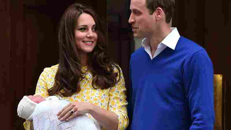 Prince William and his wife, Catherine, who is the duchess of Cambridge, show their newborn daughter to the media outside the Lindo Wing at St. Mary's Hospital in central London on Saturday.