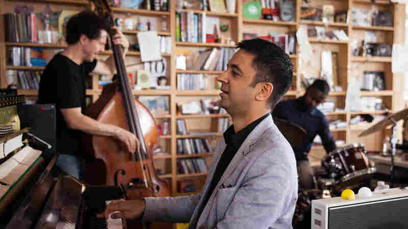 Vijay Iyer Trio performs a Tiny Desk Concert on April 20, 2015.