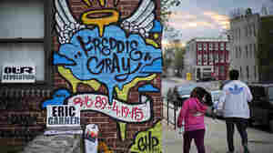 Public memorials, like the one at the scene where Freddie Gray was arrested, have become sites to commemorate other deaths of unarmed black men in similar police encounters across the country.