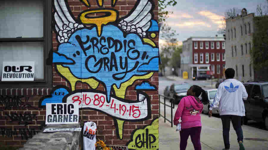 Public memorials, like the one at the scene where Freddie Gray was arrested, have also become sites to commemorate other deaths of unarmed black men in similar police encounters across the country.