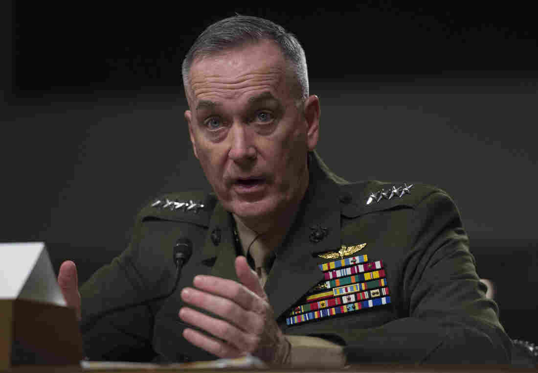 Gen. Joseph Dunford, commandant of the Marine Corps, testifies before the Senate Armed Services Committee in March.