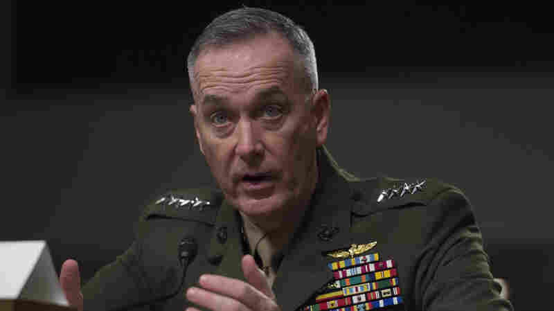 Marine Corps Commandant Gen. Joseph Dunford testifies before the Senate Armed Services Committee in March.