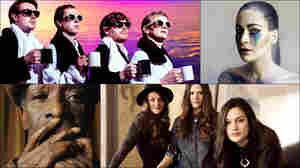Clockwise from upper left: Django Django, Farao, Pale Honey, The Staves, Tony Allen