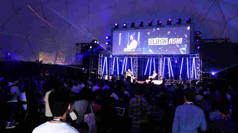At Slush Asia, a new tech festival held in Tokyo in late April, the scene and the energy resembled a small-scale South by So