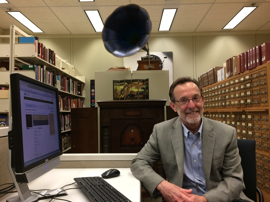 Gene DeAnna is curator of the National Jukebox project, which is an online collection of more than 10,000 pre-1925 recordings. (Brian Naylor/NPR)