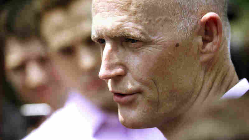 Florida Gov. Rick Scott speaks Wednesday with reporters in Washington, D.C., after a meeting with Sylvia Burwell, head of the Department of Health and Human Services.