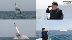Images obtained by Yonhap News Agency show a ballistic missile believed to have been launched on Saturday.