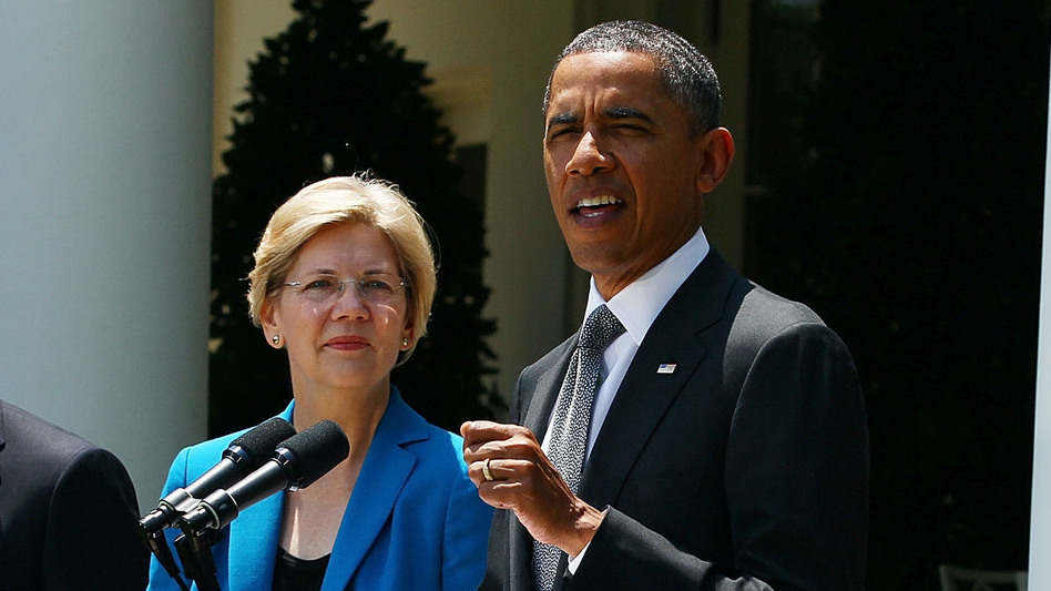 Sen. Elizabeth Warren has been a leading voice on the left against the Trans-Pacific Partnership, the president's signature trade initiative. (Mark Wilson/Getty Images)